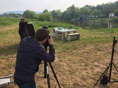 Fotograf Oliver Windus und das WITTEKIND Team in Aktion.