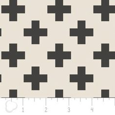 Camelot Cottons House Designer - Nordic - Cross in Carbon