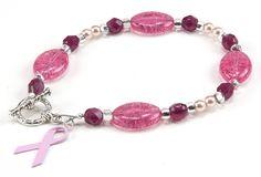Jewelry Making Idea: Breast Cancer Awareness Bracelet
