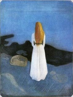 Edvard Munch Girl on the Beach art painting for sale; Shop your favorite Edvard Munch Girl on the Beach painting on canvas or frame at discount price. Edvard Munch, Great Works Of Art, Vintage Artwork, Artist Art, Female Art, Les Oeuvres, Art History, Painting, Photos