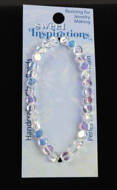 Handcrafted Clear Glass Beads