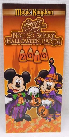 Disney Mickey's Not So Scary Halloween Party Guide Map 2010 New