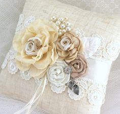 Ring Bearer Ring Bearer Pillow Shabby Chic Pillow in by SolBijou, $95.00