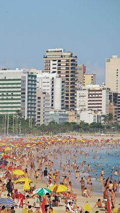 Busy Beach, Rio De Janeiro Brazil