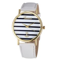 online shopping for Beautyvan Women's Fashion Geneva Striped Anchor Analog Leather Quartz Wrist Watch (C) from top store. See new offer for Beautyvan Women's Fashion Geneva Striped Anchor Analog Leather Quartz Wrist Watch (C) Casual Watches, Watches For Men, Wrist Watches, Women's Watches, Watches Online, Geneva Watches, Cheap Watches, Leather Fashion, Pu Leather