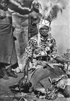 """Africa   """"Witchdoctor"""".  South Africa    Scanned postcard; publisher Artco"""