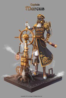 GGSCHOOL, Artist 이상아, Student Portfolio for game, 2D Character Concept Art, www.ggschool.co.kr 2d Character, Character Concept, Concept Art, Samurai, Steampunk, Game, Conceptual Art, Gaming, Toy