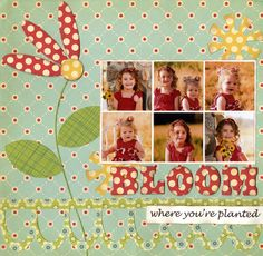 Cute Bloom Scrapping Page...love the paper!