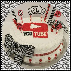 Halle's YouTube Birthday Cake. Cheryl Stacy Cakes did an amazing job of keeping a You Tube theme, but still making it girly and adorable!