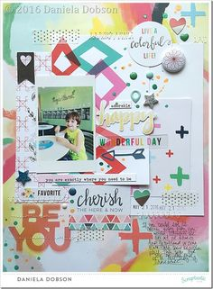 { Sketchy Thursday with May Cake by the Ocean kit from Scraptastic Club }
