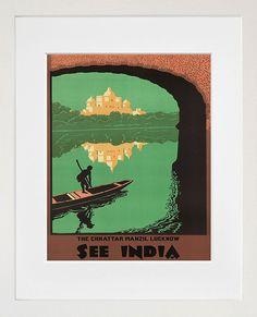 India Wall Art Travel Poster Vintage Print (ZT241)