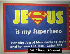 Sunday school bulletin board - a fun anytime bulletin board that is especially…