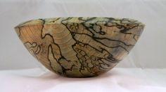 Spalted Hackberry Wood Turned Bowl - Tony DeMasi. via Etsy.
