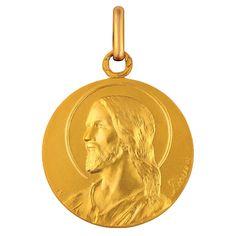 Médaille de bapteme en or, Médaille Christ : Maison La Couronne