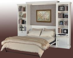 Horizontal Murphy Bed with Desk - Guest Bedroom | Stuart David Furniture