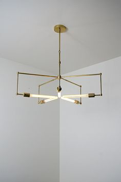 handmade brass pendant light fixture  'asterix' by studioPGRB, $1300.00
