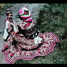 Matyo Hungarian Folk Dresses Matyo folk art, its strikingly unique, wonderfully colorful embroidery and motifs, Read Folk Costume, Costumes, Folk Clothing, World Cultures, Color Patterns, Embroidery Patterns, Catwalk, Style Inspiration, My Style