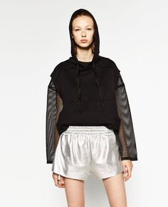 Image 2 of SILVER SHORTS from Zara