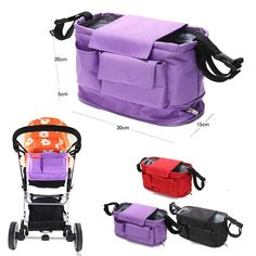 Baby Stroller Bags Organizer Nappy Bags Stroller Accessories Baby Pram Products Buggy Storage Nappy Bag Heighten 5cm-in Diaper Bags from Kids & Mothercare on Aliexpress.com | Alibaba Group