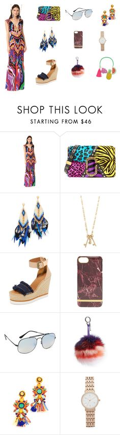 """Stylish women"" by jamuna-kaalla ❤ liked on Polyvore featuring Roberto Cavalli, Marc Jacobs, Gas Bijoux, Tory Burch, See by Chloé, Ray-Ban, Fendi, Mochi, DKNY and Mercedes Salazar"