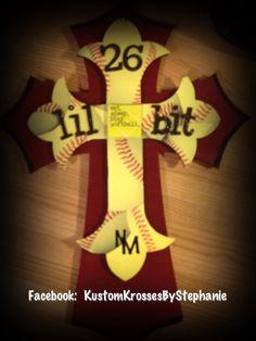 Softball Cross love the name on it. Lol