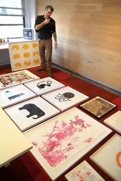 Art Tip: Hang a Gallery Art Wall on The Floor First
