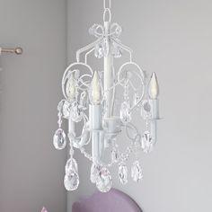 "Found it at Wayfair - Caden 3-Light Crystal Chandelier $62.95. Comes in Lavender  9.75"" wide"