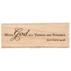 All Things Are Possible Rubber Stamp