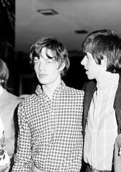 mick jagger and keith richards at the chevron hotel in sydney, january 21 1965.