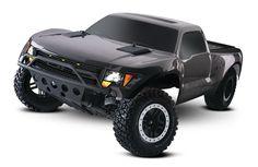 Traxxas - Ford Raptor # 5806 front 3 quarter grey- traxxas.com