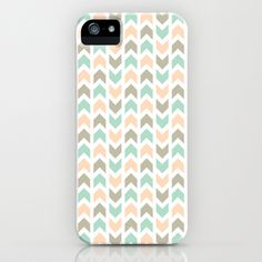 Pattern: Olive + Peach Arrows iPhone 5 (and 4 and 3) Case - $35.00
