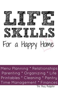 Lean homemaking skills like getting the most for your grocery money, creating a family budget and getting organized to make your home life run smoothly! Family Budget, All Family, Home Management, Time Management Tips, Life Skills, Life Lessons, Planners, Life Organization, Getting Organized