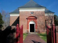 Christ Church, Lancaster County, Virginia, 1735: doorways within doorways.