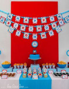 Choo Choo Train Thomas and Friends inspired Birthday Party Printable DIY ♥ More photos here: www.leelaaloo.com