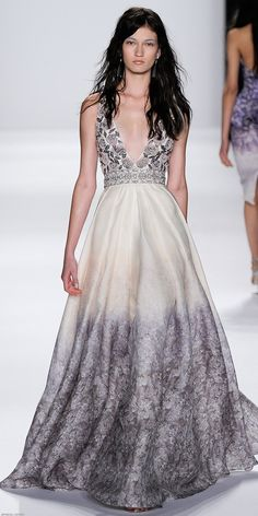 Badgley Mischka, New York Fashion Week, Frühjahr-/Sommermode 2015 Dress Couture, Couture Fashion, Look Fashion, Fashion Show, Fashion Design, Dress Fashion, Mode Glamour, New York Fashion, Looks Style