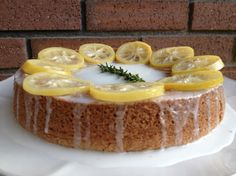 Tart lemon, aromatic rosemary and rich olive oil make this cake tasty. Then candied lemons make it beautiful! Candied Lemon Peel, Candied Lemons, Raspberry Ice Cream, Olive Oil Cake, Salad With Sweet Potato, Cake Recipes, Lemon Recipes, Vegan Desserts, Sweet Tooth