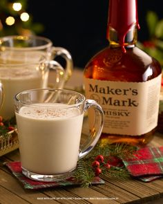 A party for your palate & your punch bowl this traditional Eggnog recipe is sure to please MakeItMerry Party Drinks, Fun Drinks, Yummy Drinks, Alcoholic Drinks, Eggnog Cocktail, Cocktail Drinks, Christmas Cocktails, Holiday Cocktails, Christmas Friends