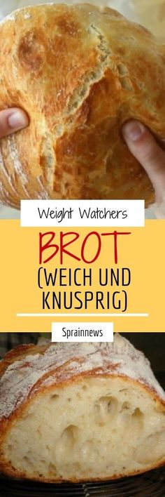 Bread (soft and crispy) Ingredients: 500 g wheat flour type 405 W .-Advertisement Brot (weich und knusprig) Zutaten: 500 g Weizenmehl Type 405 W… Bread (soft and crispy) Ingredients: 500 g … - Weith Watchers, Types Of Flour, Cereal Recipes, Pampered Chef, Dry Yeast, Vegetable Recipes, Crockpot Recipes, Cheesecake, Food And Drink