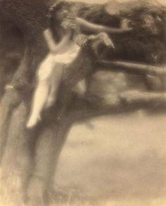 Arthur F. Kales. Nymph in tree 1900-1909