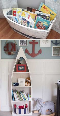 Design a bookcase got idea from a boat.