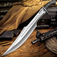Honshu Spartan Sword And Sheath – Stainless Steel Blade, Grippy TPR Handle, Stainless Steel Guard – Length – Willkommen bei Pin World Tactical Swords, Tactical Knives, Tactical Gear, Swords And Daggers, Knives And Swords, Spartan Sword, Gladius Sword, Sword Sheath, Armas Ninja