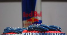 I am a huge fan of Red Bull, so I thought it would be fun to change things up and make a Red Bull Cupcake. I had a hard time finding a reci...
