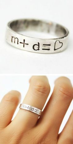 Me + You = ♥ Instead I want P + First letter of his name = A heart and His last name ❤️❤️