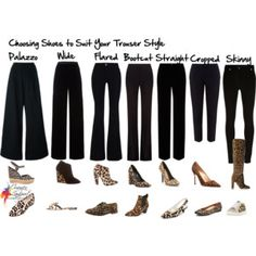 Choosing shoes to suit your trouser style