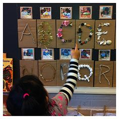 """alphabet collage with """"beautiful stuff"""" project materials"""