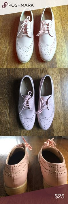 Mi.im baby pink oxfords Brand new and comfortable baby pink oxfords Shoes Flats & Loafers