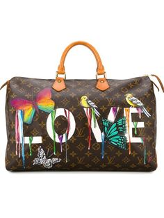 Shop Louis Vuitton Vintage dripping love 'Speedy' monogram tote in Rewind Vintage Affairs from the world's best independent boutiques at farfetch.com. Shop 400 boutiques at one address.