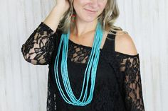 7 Strand Turquoise Necklace – Rural Haze