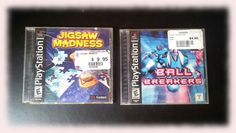 PLAYSTATION Black Label PS1 JIGSAW MADNESS & BALL BREAKERS Two game lot