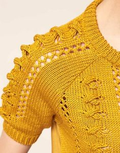 House of Dagmar #yellow #knit